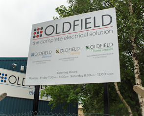 Oldfield Post Mounted Sign